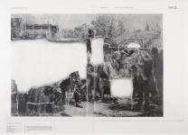 <p>Methods of Destruction</p>MOD/Frederick the Great travelling<br><br>graphite on paper, hot type<br>182 x 252 cm<br>2011